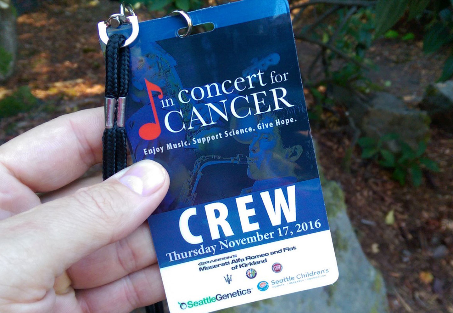 Concert promotion and marketing materials for In Concert for Cancer