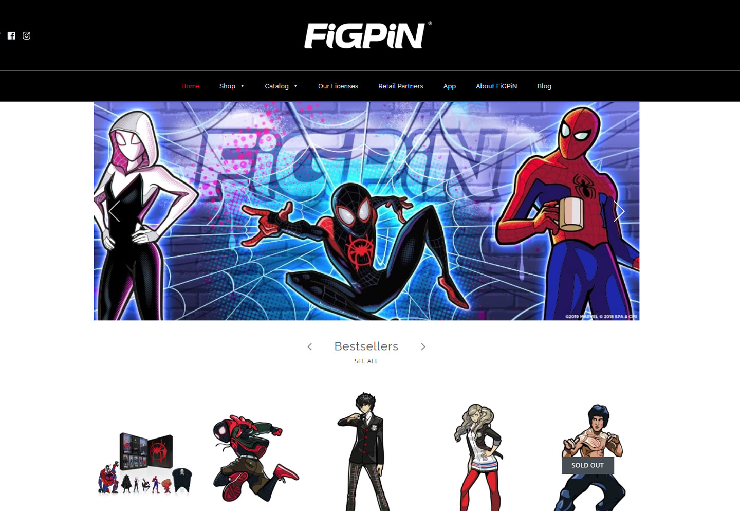 Consumer products website for FiGPiNs built on Shopify