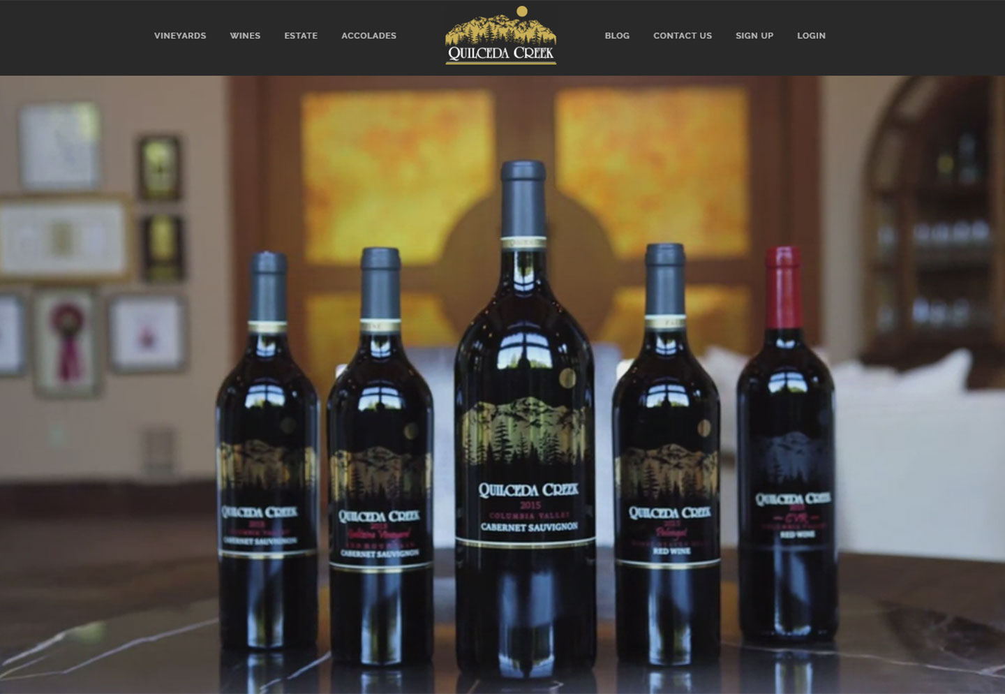 online commerce website for Quilceda Creek Winery
